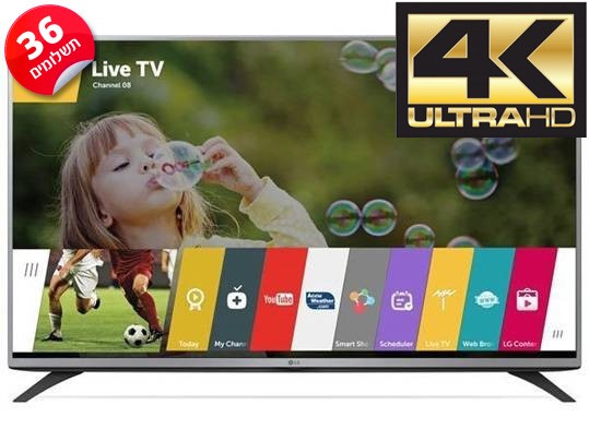 טלויזיה LED Smart TV 4K 49UF640Y LG